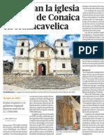 Restauran Iglesia Colonial de Conaica en Huancavelica