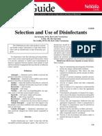 Uso y Seleccion Desinfectantes