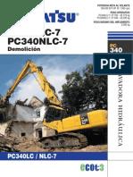 Excavadora Komatsu PC340LCD 7
