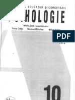 Psihologie - Clasa a Xa - Mielu Zlate, Tince Cretu - 2005