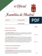 BOLETIN ASAMBLEA  PREGUNTA 7134 Nº DENUNCIAS 5 AÑOS  VTC