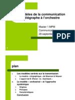 CM 1 Les Modeles de La Communication