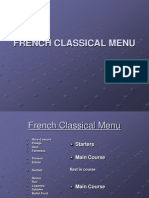 MR VIRAJ CHAVAN French Classical Menu