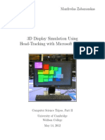 3D Display Simulation Using Head Tracking With Microsoft Kinect (Printing)