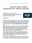 LIVE - Seeing Thru Eyes of Heart - Visiting the Sun - Electric Universe