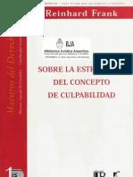 Reinhard Frank - Sobre La Estructura Del Concepto de Culpabilidad
