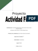 Proyecto Actividad física