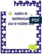 Ateliers Maths 3e Cycle