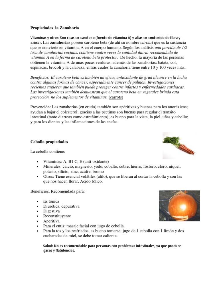 zanahorias y prostatitis