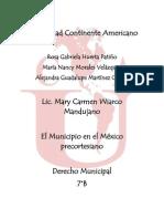 EL MUNICIPIO EN EL MÉXICO PRECORTESIANO