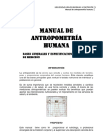 MANUAL DE ANTROPOMETRÍA HUMANA