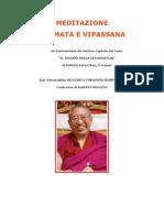 Meditazione Shamata e Vipassana