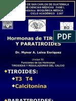 Hormonas Tiroideas y Paratiroideas