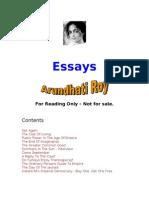 Arundhati Roy Political Essays