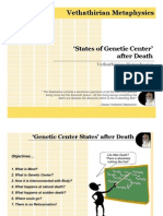Genetic Center States After Life - in Brief