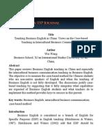 Business English Teaching in China