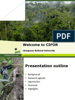 Welcome to CIFOR Presentation Jan 27 2011