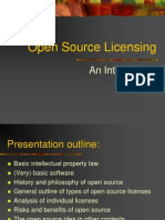 Open Source Licensing Powerpoint Presentation