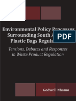 Environmental Policy Processes Surrounding South Africa's Plastic Bags Regulations