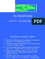 Flat Earth Bible 03 of 10 - The Solid Sky Dome