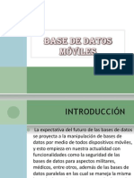BASE DE DATOS MÓVILES