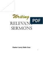 Writing Relevant Sermons