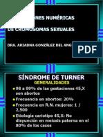 1. Alteraciones Num de Crosomopatias Sexuales. Sd Turner
