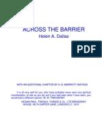 Across the Barrier - Helen Dallas