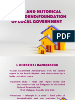 Legal and Historical Background Foundation of Local Government