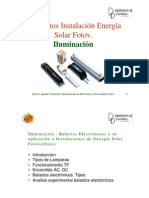 iluminacion instalaciòn energia solar