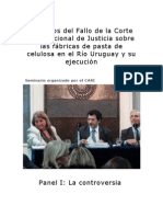 Aspectos del Fallo de la Corte Internacional de Justicia sobre las fábricas de pasta de celulosa en el Río Uruguay y su ejecución