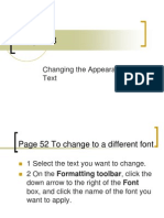 Chapter 03 - Changing the Appearance of Text