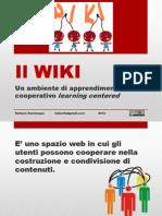 Wiki, un ambiente di apprendimento cooperativo