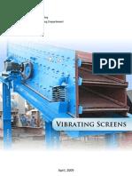 Manual Book Vibrating Screen | Rodamiento (Mecánico) | Maquinas