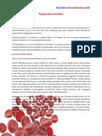 Platelet Abnormalities