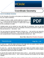 Axis in Coordinate Geometry