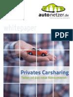 Privates Carsharing. Teilen ist das neue Konsumieren