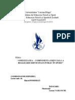 ONESTITATEA – COMPONENTA ESENȚIALĂ A REALIZĂRII SERVICIULUI PUBLIC ÎN SPORT