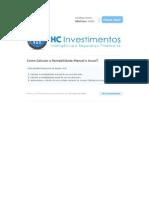 HC Investimentos - Como Calcular a Rentabilidade Mensal e Anual