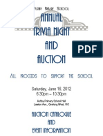 2012 Ashby Primary School Trivia Night and Auction Catalogue and Event Information Booklet