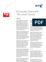 BS 25999 Emergency Call Answering Service (BT) Case Study