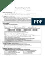PV System Checklist