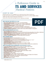 Benefits and Services Checklist for medical patients in Israel