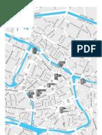 Mapa de Gante Historical Center