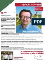 Profession de foi Christian PAUL-2eme tour élections législatives