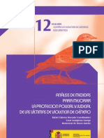 Analisis Medidas Mejorar Proteccion Policial Judicial Victimas Violencia Genero