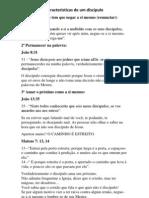 Características de um discípulo