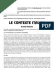 Le Contexte Italien