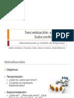Tercerizacion y Ley de Subcontratacion. Grupo 5
