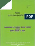 Buku Panduan Peserta Manajemen BBLR Untuk Bidan Di Desa